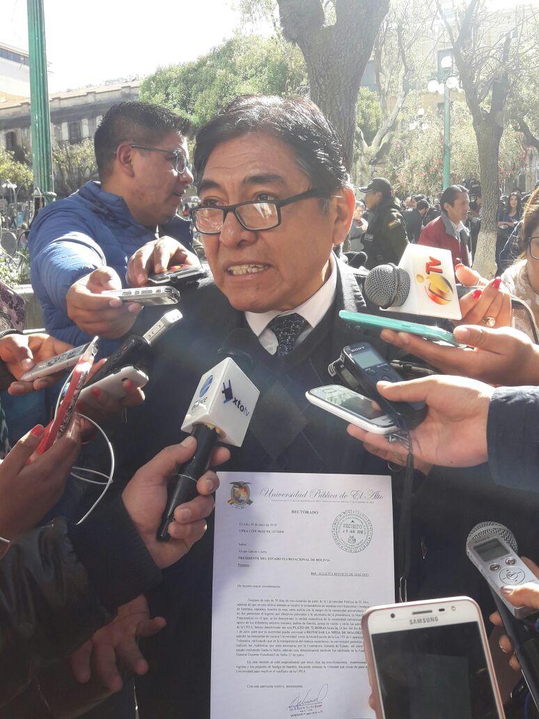UPEA acepta dialogar este sábado con la mediación  de la Defensoría