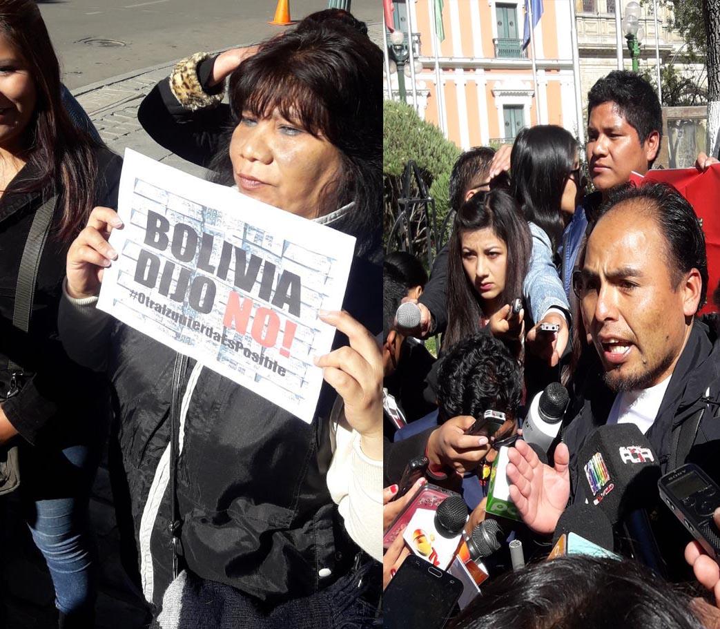 """Colectivos del 21F de Potosí declaran """"persona no grata"""" al presidente Evo Morales"""
