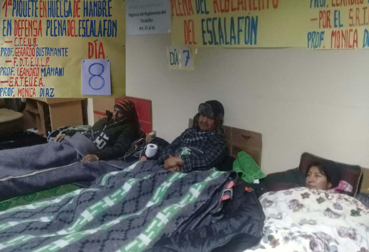 Magisterio urbano cumple 8vo día de huelga de hambre