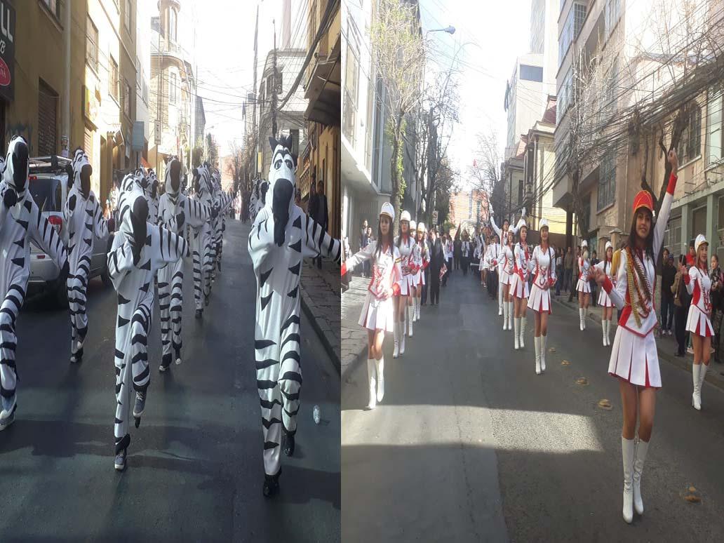 Paceños dan inicio a los desfiles en conmemoración a los 209 años de la Revolución de La Paz