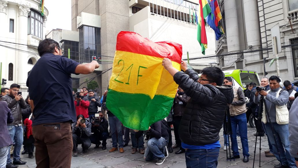Activistas de Bolivia dijo no lanzan globos aerostáticos con el 21F