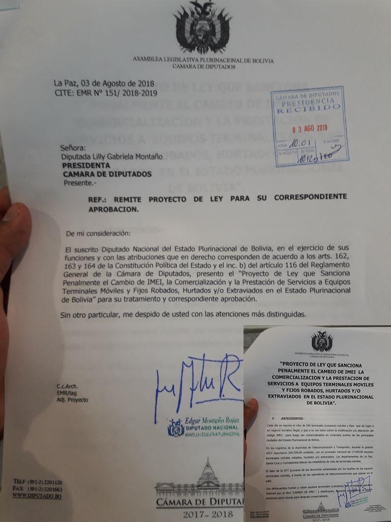 Diputado del MAS presenta proyecto de ley para sancionar el cambio de imei de celulares