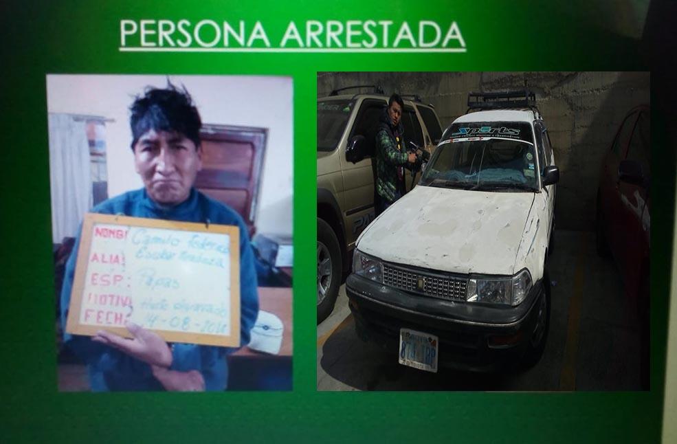 Fiscalía liberó a taxista que robo 5 cargas de papa