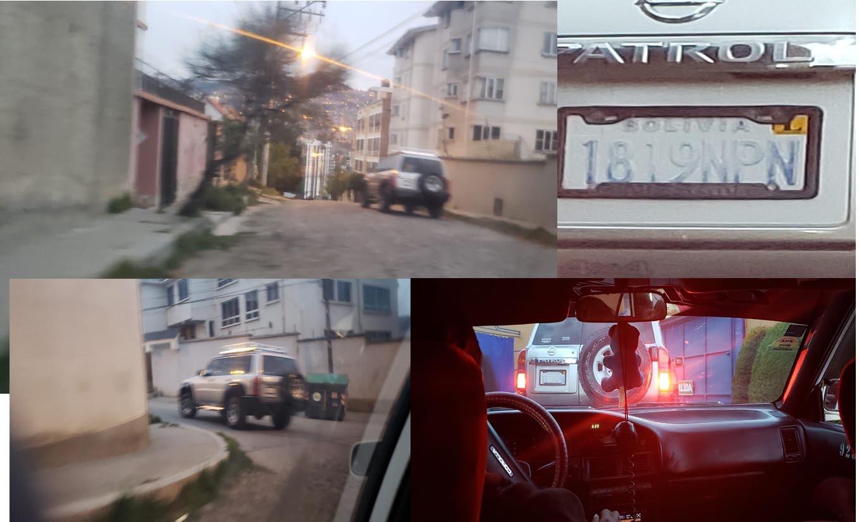 Identifican a vehículo oficial saliendo de un motel en Sopocachi