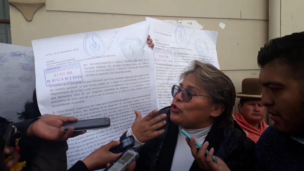 Carminia Luna manifiesta que la Asamblea Legislativa Plurinacional manipulará la selección de Fiscal General