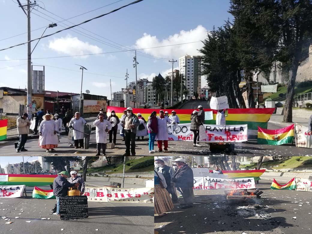 Comerciantes de La Bolita piden la conclusión de la construcción mercado a la alcaldía paceña
