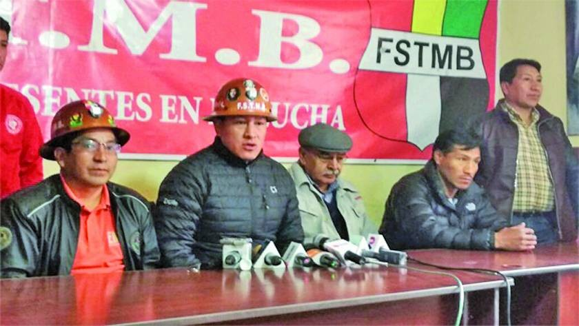 FSTMB participará del congreso convocado por la COB para definir acompañante de Morales