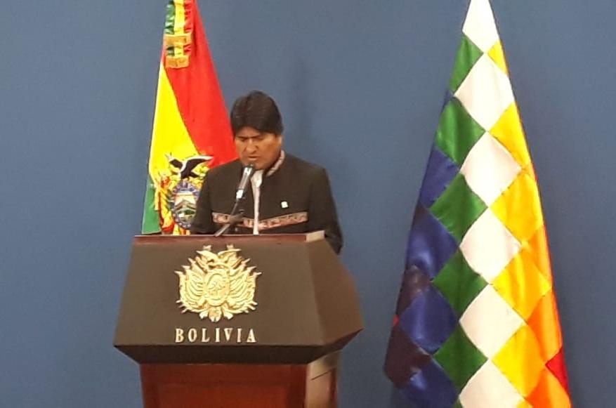 Morales concede amnistía Tuto Quiroga y Carlos Mesa