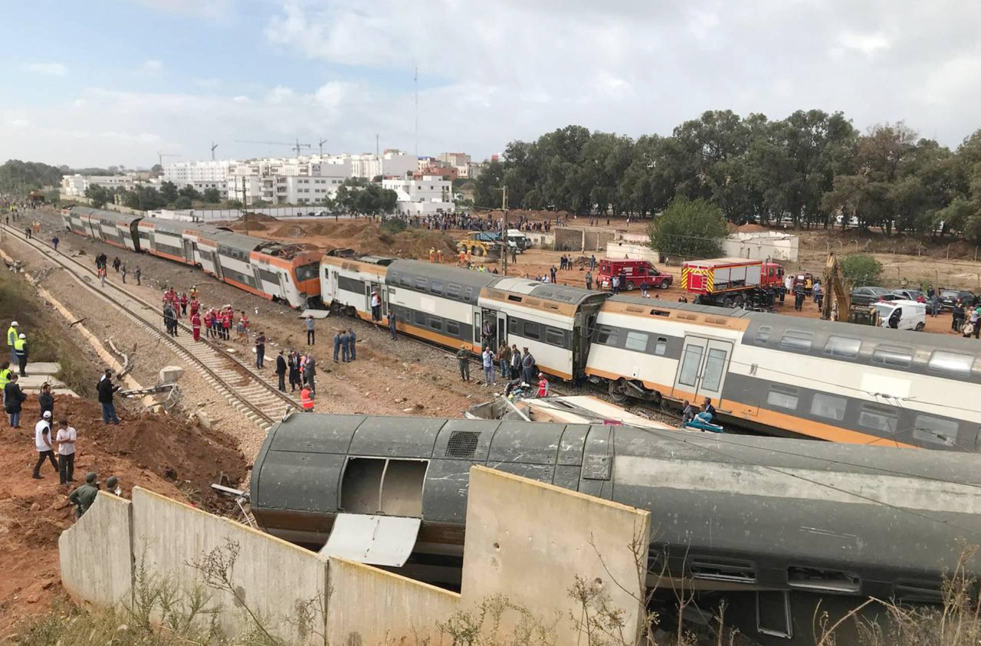 Accidente de tren en Marruecos dejó al menos 7 muertos y 86 heridos
