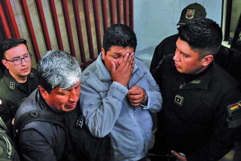 Juez niega libertad a Franklin Gutiérrez y éste rompe en llanto