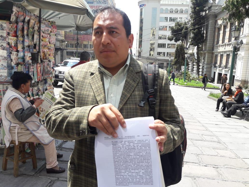 Oposición presenta recurso de inconstitucionalidad al TCP contra la Ley de Organizaciones Políticas