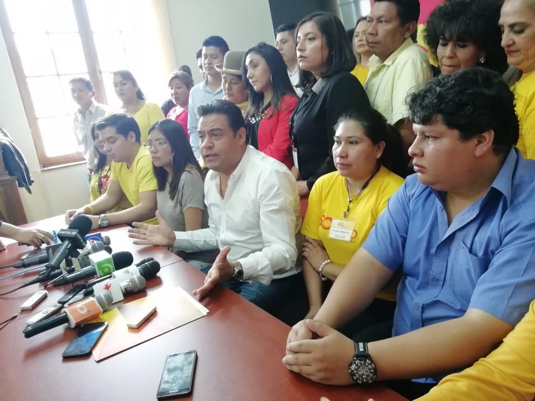 SolBo enviará una carta a Carlos Mesa para proponerle ser parte del bloque de oposición alternativo al MAS