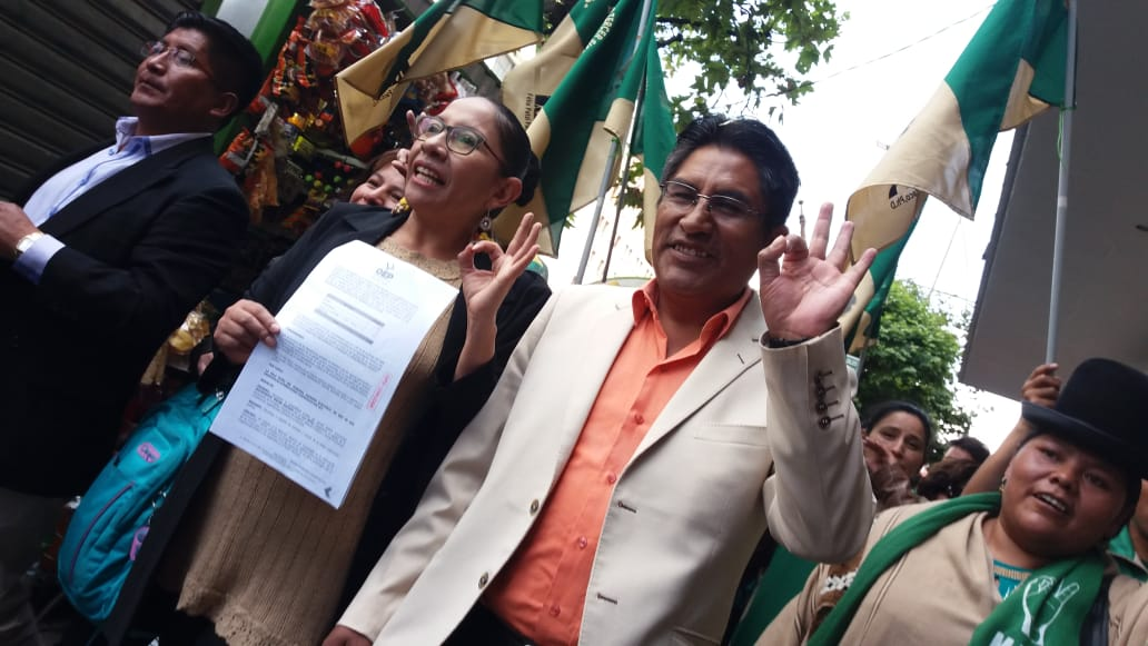 MTS obtiene su personería jurídica y Patzi anuncia que su acompañante será una mujer