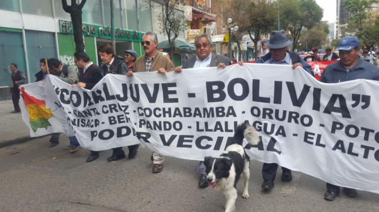 """Confederación nacional de juntas vecinal prepara recibimiento para marcha de plataformas del """"21f""""que partió desde Conani."""
