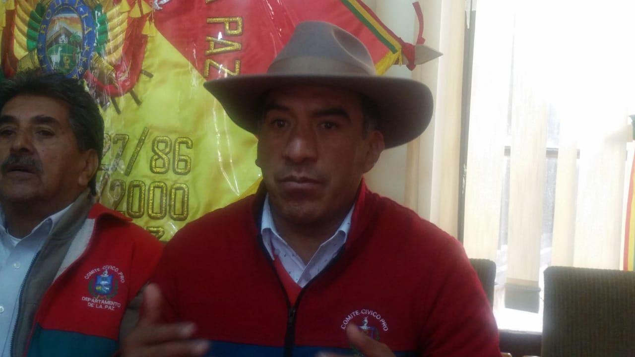 """Comité Cívico de La Paz califica de """"no contundente"""" el paro organizado por opositores en La Paz"""