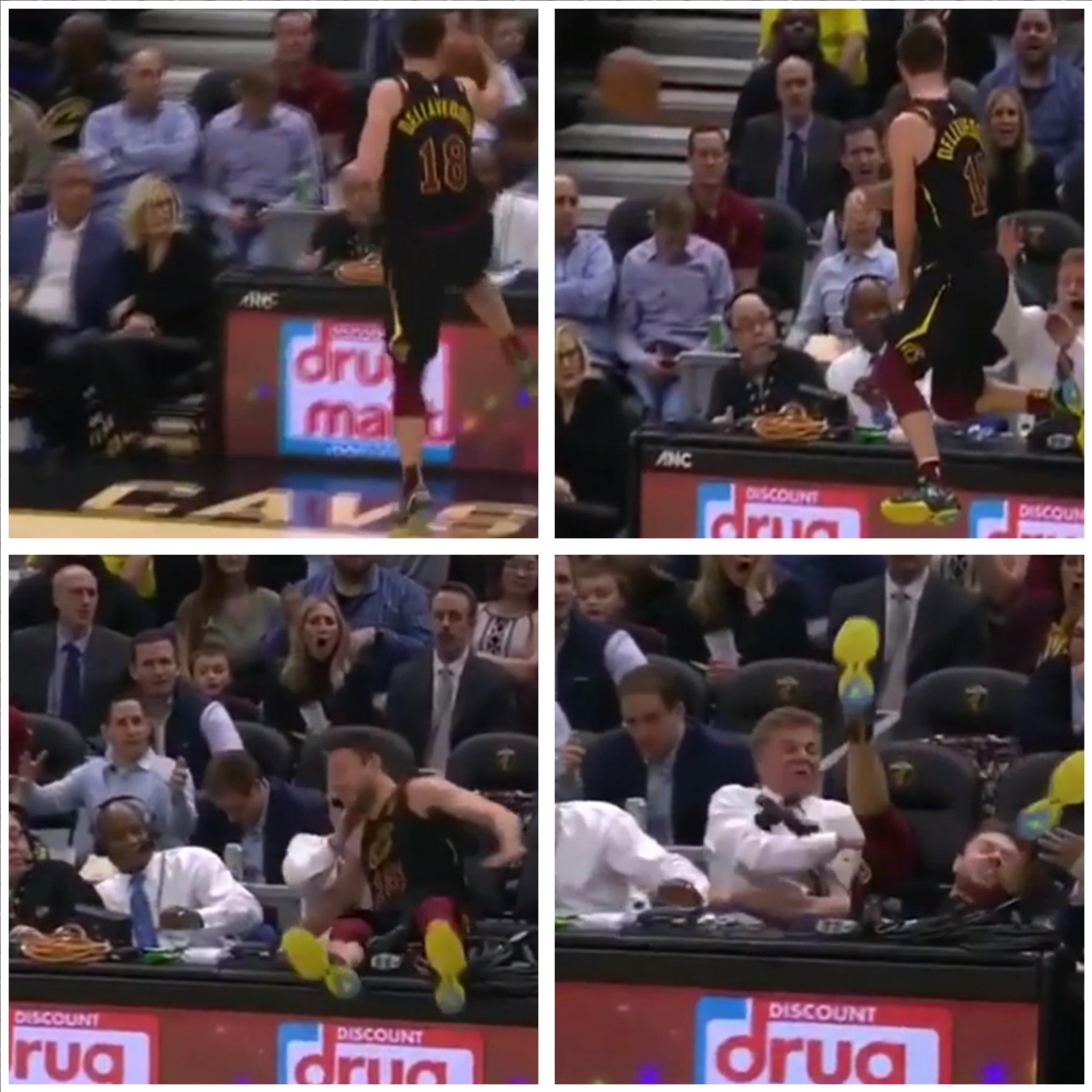 Un basquetbolista de la NBA casi termina desnucado tras salvar una pelota