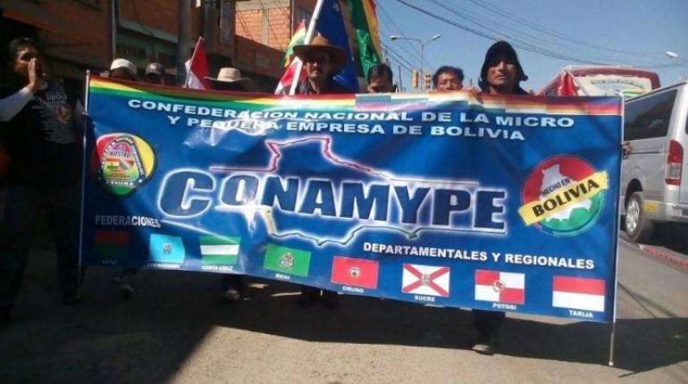 """La CONAMYPE amenaza con marchar desde """"Patacamaya"""" si el gobierno se mantiene en obligarlos a pagar el doble aguinaldo"""