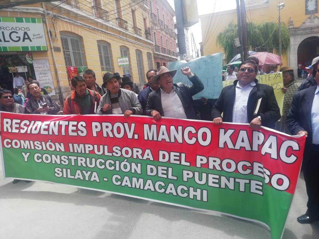 La Federación de Campesinos de la Provincia Manco Kapac anuncia movilizaciones indefinidas si la ABC no retoma con la construcción del puente Silaya – Camacachi