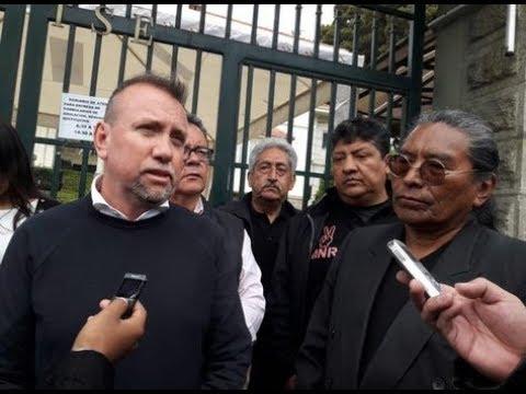 Militantes del MNR impugna al binomio Lema – Untoja los cuales habrían sido inscritos de manera ilegal