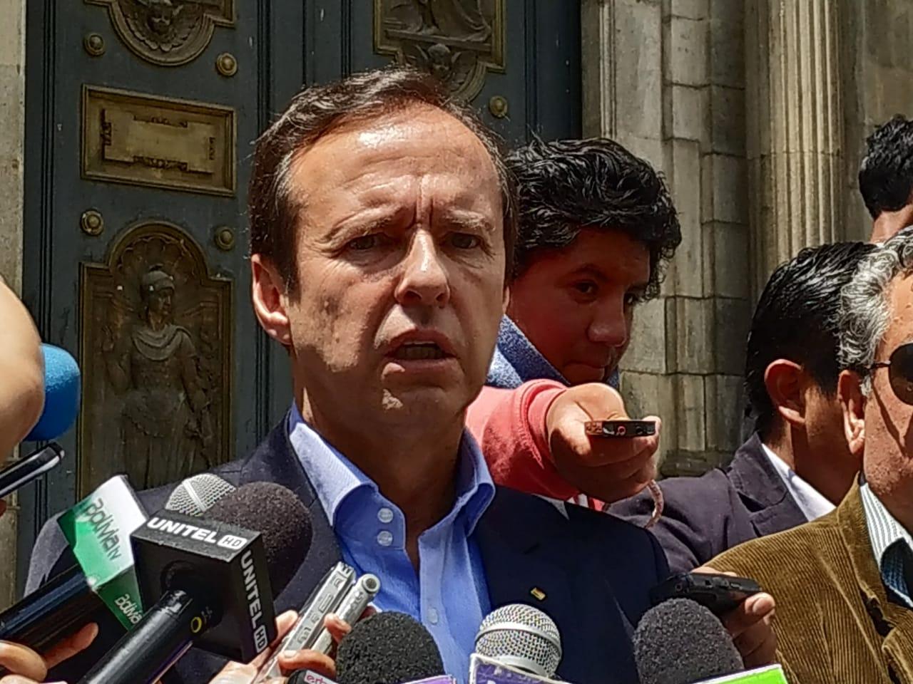 Quiroga plantea cancelar las primarias y demandar la habilitación de Morales-Linera ante la OEA para determinar si la reelección es o no un derecho humano