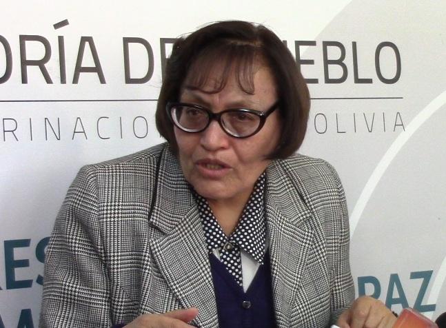 Delegada defensorial de La Paz pide ir a las elecciones el 2019 y no asumir más medidas de presión con violencia