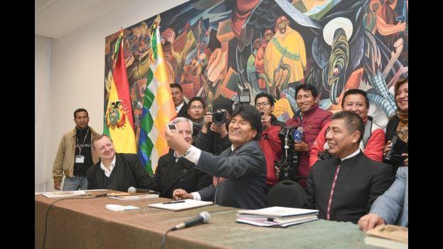 Hoy se llevó a cabo el primer gabinete del año en la Casa Grande del Pueblo donde hicieron una evaluación general sobre el gobierno