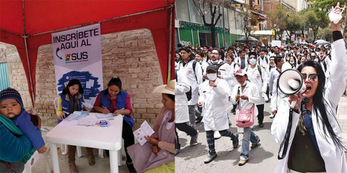 Médicos cumplen paro de 48 hrs. con movilizaciones exigiendo al gobierno destinar el 10% del PIB a la salud