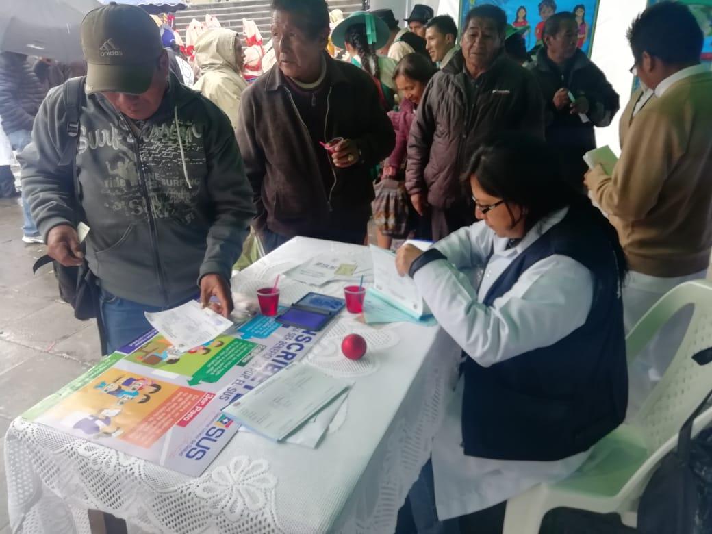 Ministerio de Salud asegura que 20.873 personas se encuentran registradas al SUS en el departamento de La Paz