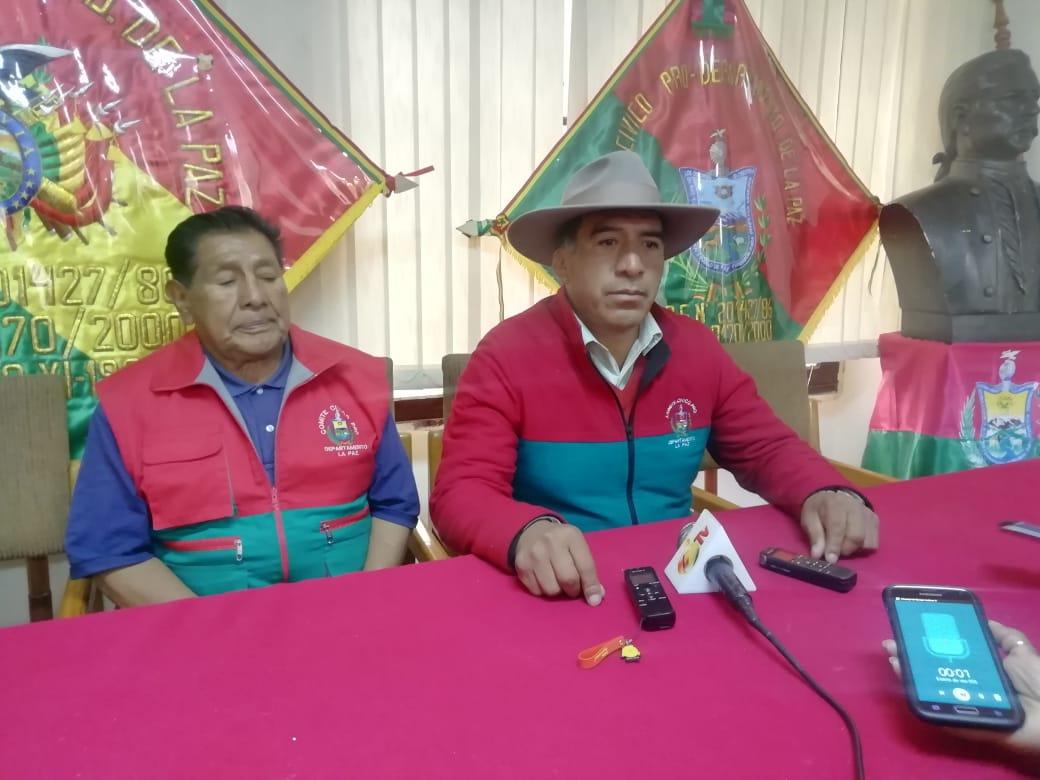 Comité Cívico de La Paz pide al Gobierno ir a Caranavi para socorrer a las familias afectadas