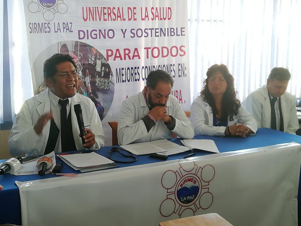 Médicos de La Paz anuncian movilizaciones para mañana en rechazo al convenio para implementación del SUS