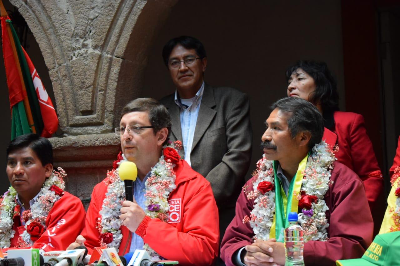 Bolivia Dice No firma una coalición con Alianza Social Patriótica