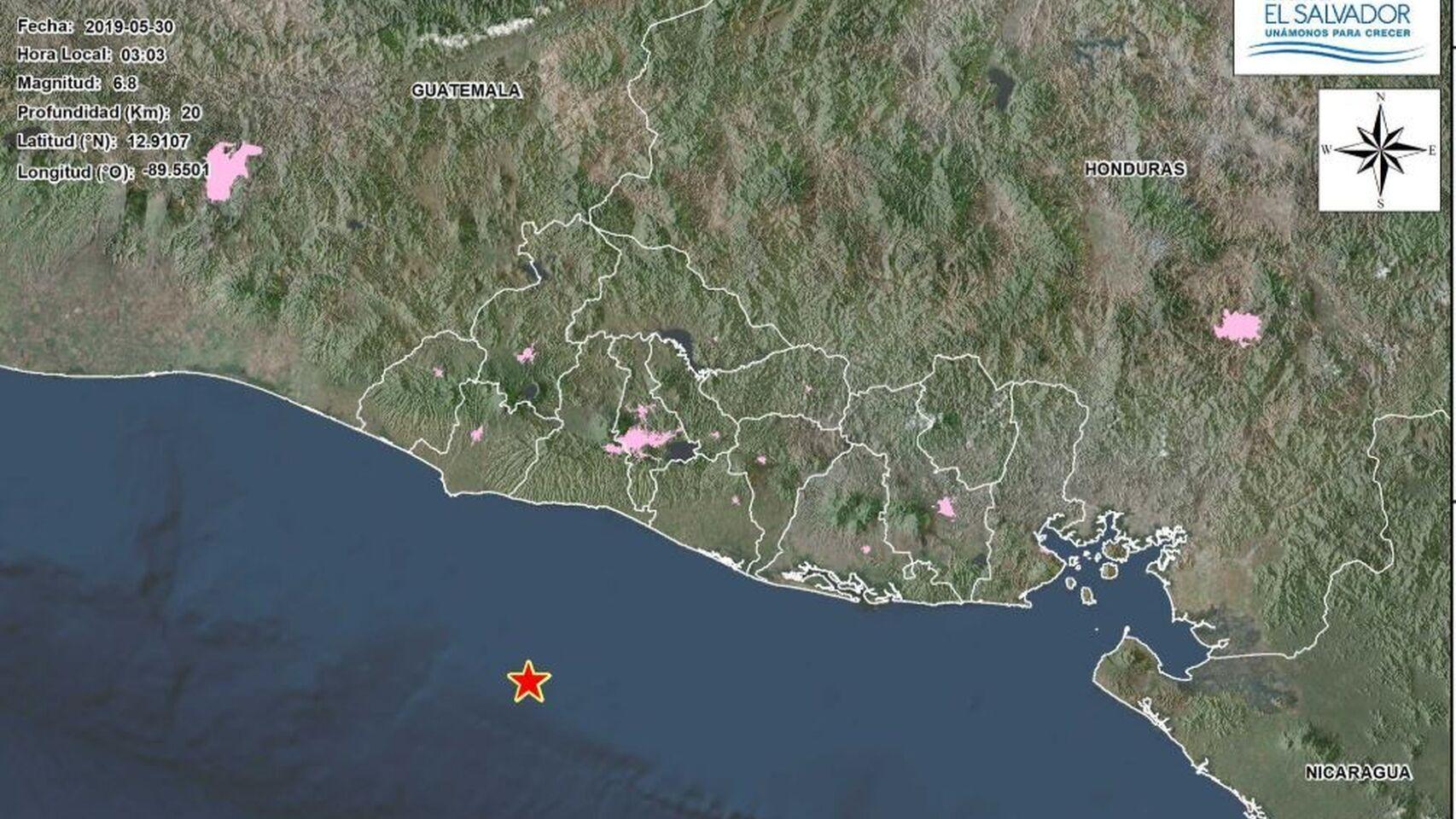 Terremoto de 6, 8 grados en la escala de Ritcher sacudió a El salvador sin dejar daños de gravedad