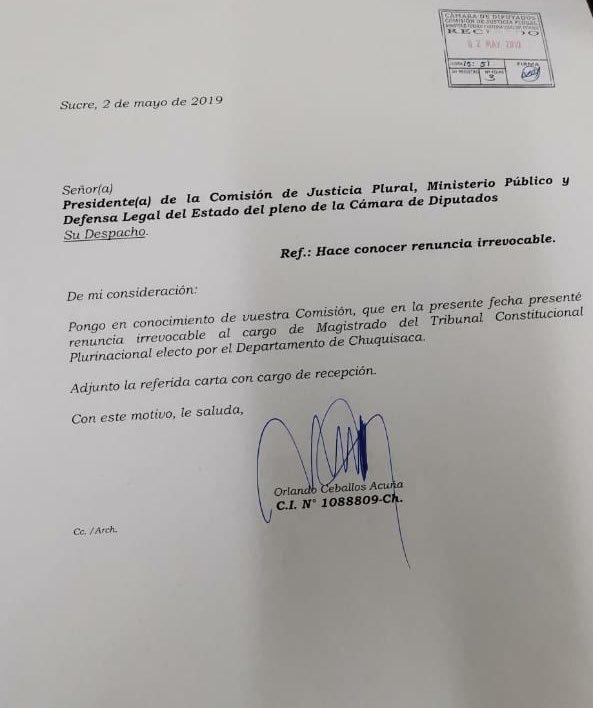 Magistrado Ceballos renuncia a su cargo tras denuncias de agresión contra su pareja