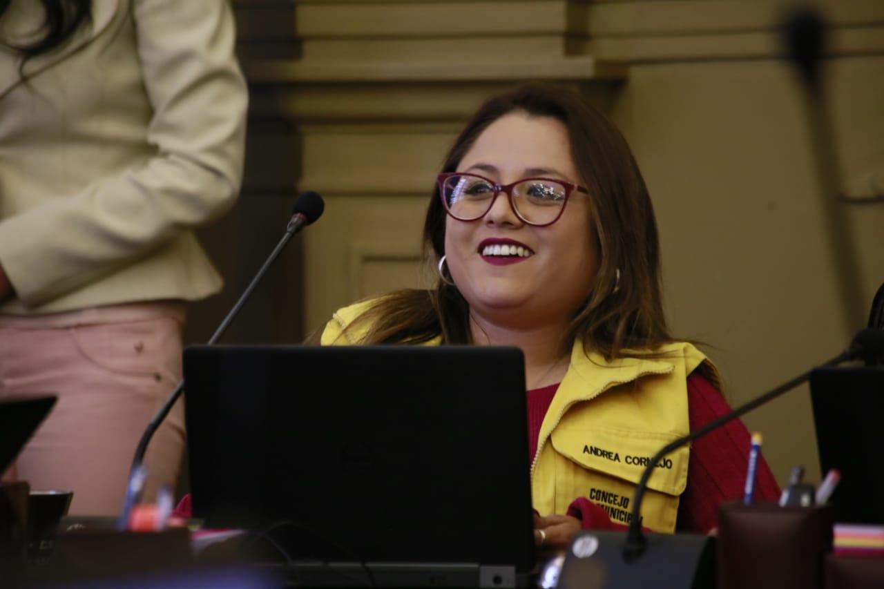 Andrea Cornejo es elegida como presidenta del Concejo Municipal