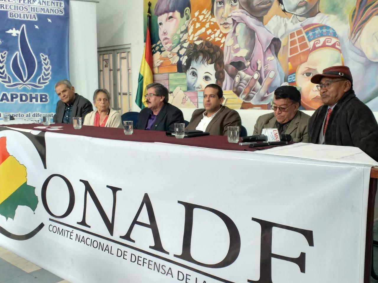 CONADE y comités cívicos convocan a una marcha nacional para demandar la renuncia de los vocales del TSE
