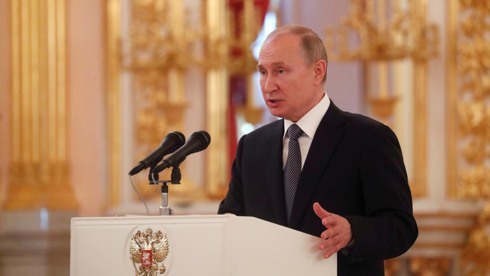 Putin firma una ley que suspende la participación de Rusia en el tratado INF