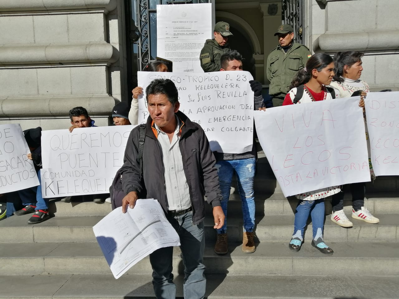 "Comunarios de Zongo Trópico demandan obra del puente vehicular colgante ""Kelequelara"" a municipio paceño"