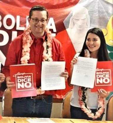 Ortiz anuncia a la diputada Shirley Franco como candidata a la Vicepresidencia por la alianza Bolivia Dice No