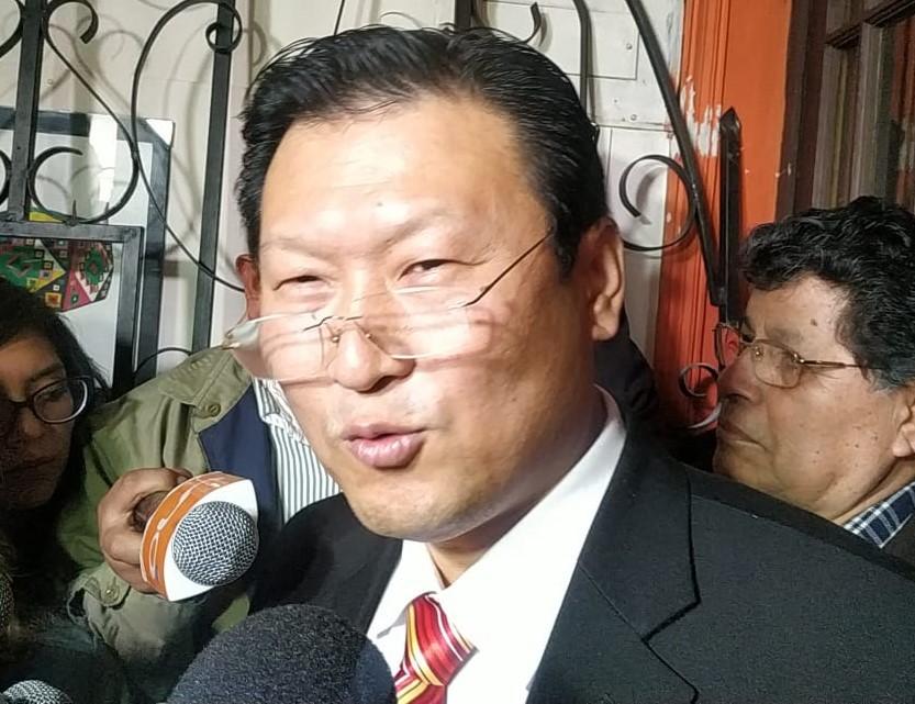 El candidato a la presidencia Chi Hyun Chung por PDC anuncia sus propósitos para Bolivia