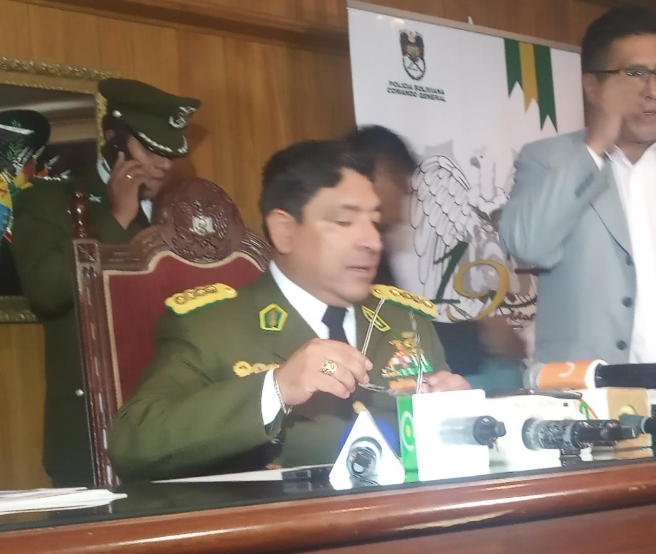 Director de la FELCN entrega memorial ante la Fiscalía Policial respecto al proceso en su contra por presunta extorsión