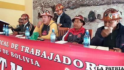 FSTMB solicita una reunión con Morales para exigir el pago de salarios a mineros de San Cristóbal