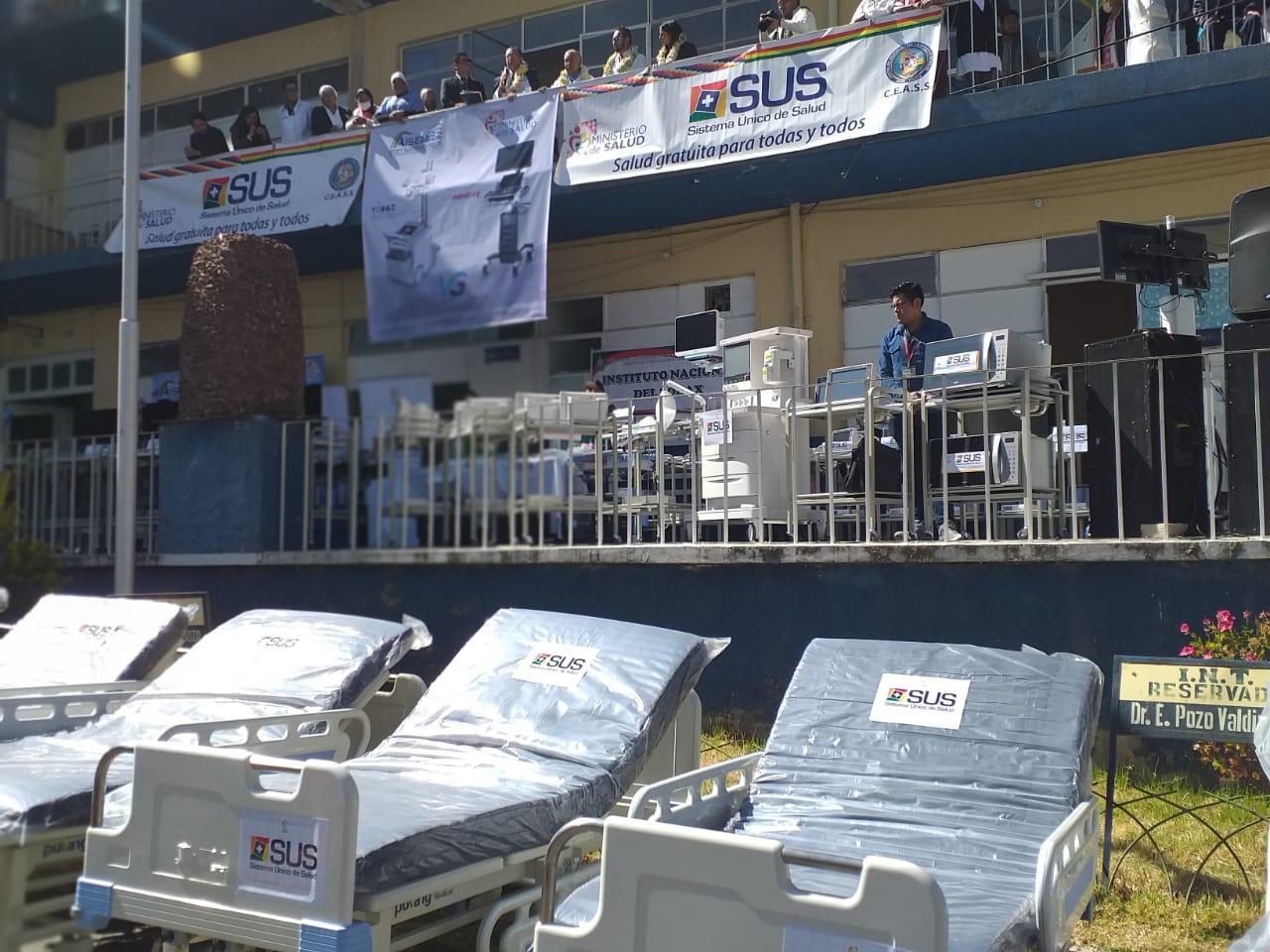 Ministerio de Salud entrega equipamiento y fármacos a 3 hospitales de tercer nivel del complejo hospitalario Miraflores