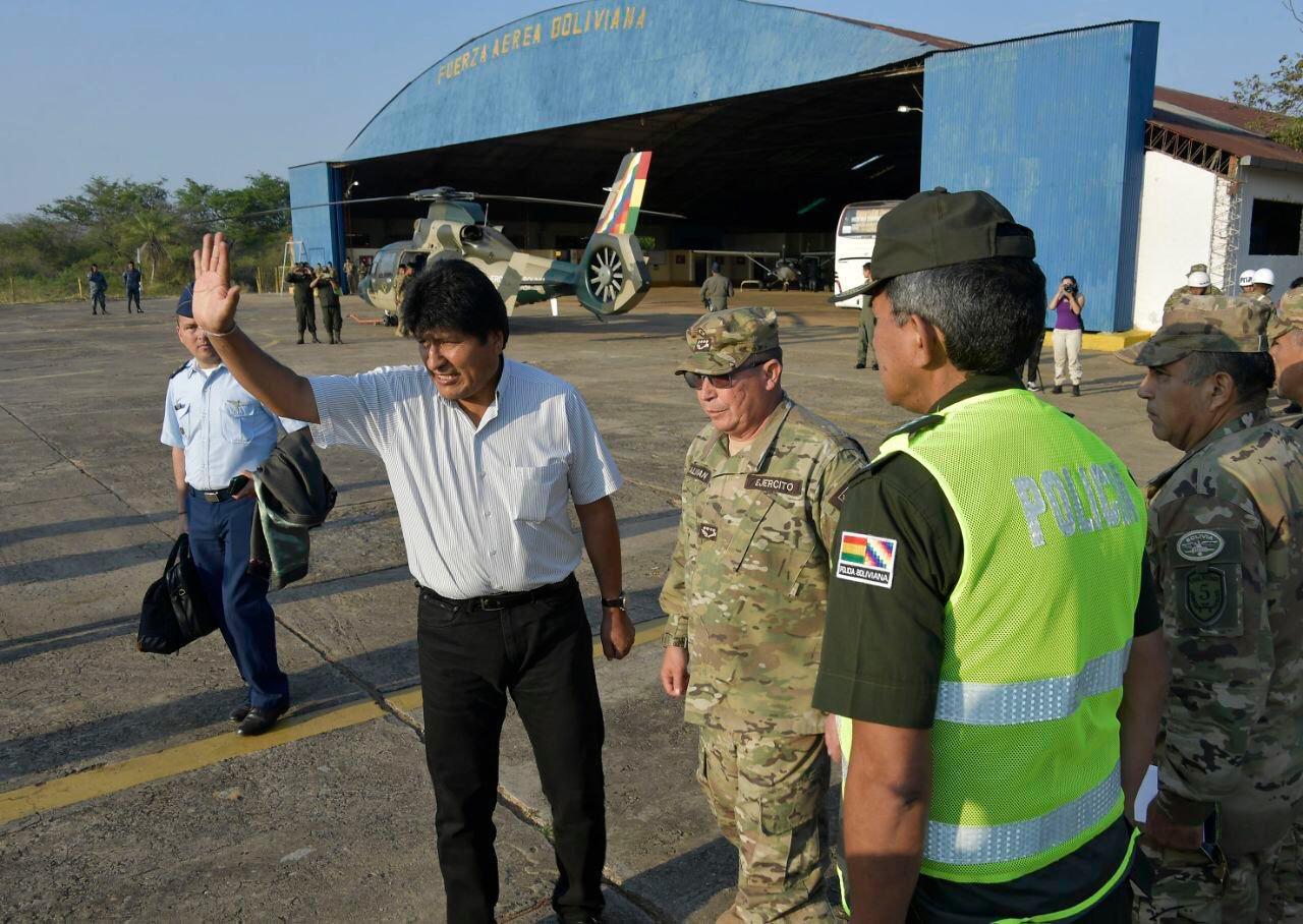 Morales declara pausa ecológica en la Chiquitanía por los incendios forestales
