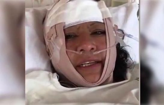Ruth Nina considera que fue víctima de un atentado tras sufrir un accidente de tránsito