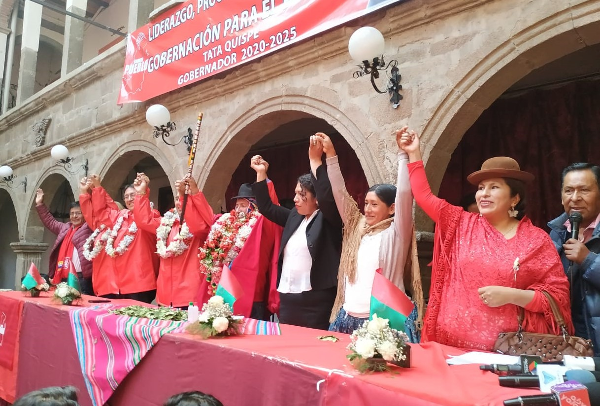 """Movimiento Demócrata Social y Nueva Opción Social eligen al diputado """"Rafael Quispe"""" como candidato a la Gobernación por La Paz"""