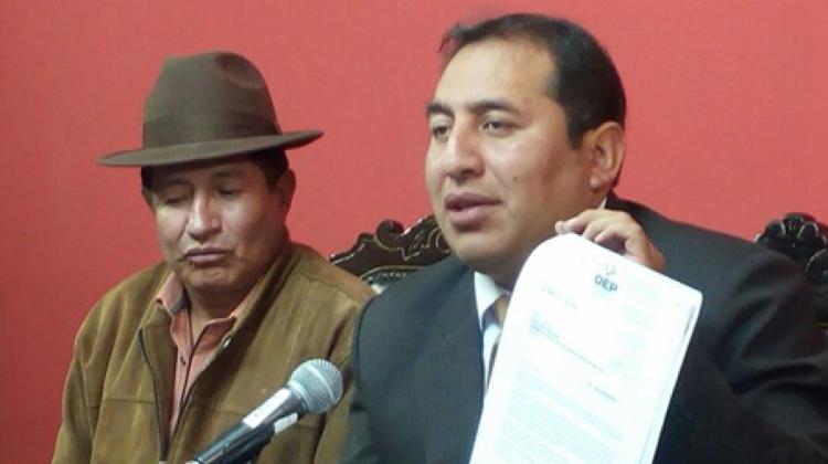 Oposición presenta denuncia penal contra el gobernador de Oruro por presunto uso indebido de bienes públicos