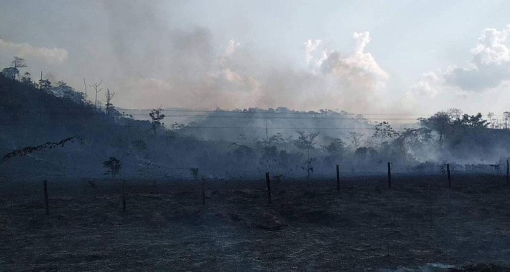Policía desplegará 100 funcionarios policiales para mitigar el incendio forestal del parque Madidi
