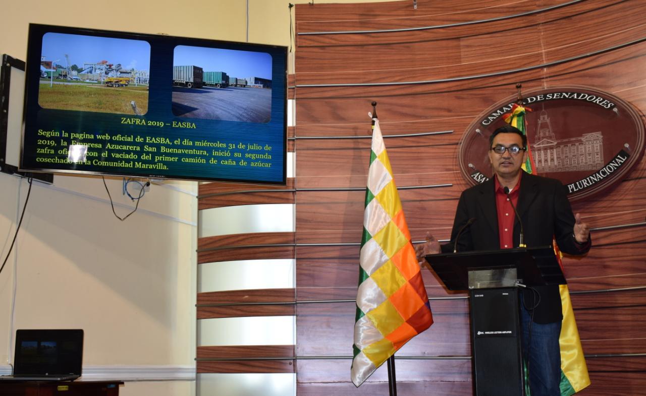 Senador Núñez denuncia derrame de jarabe en una planta de la empresa de azúcar San Buenaventura
