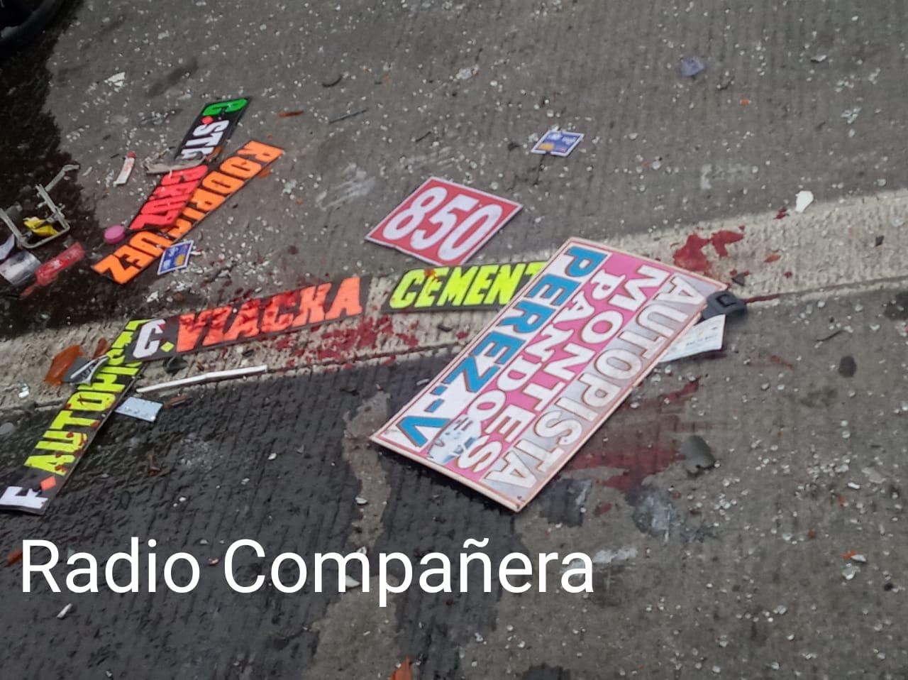 Accidente de tránsito en la autopista La Paz – El Alto, deja un saldo de 9 heridos