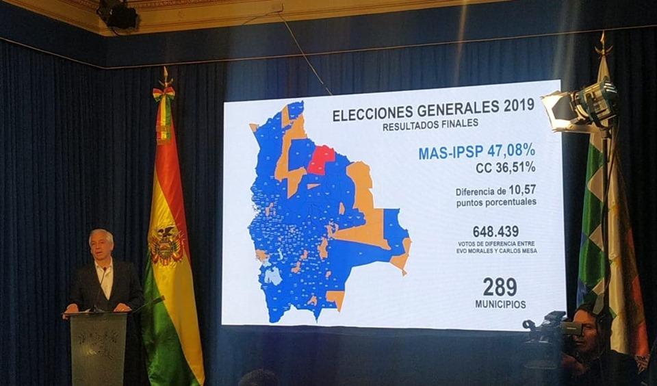 Gobierno anuncia conformación de comisión para que la OEA realice una auditoría a las elecciones